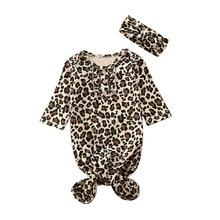 0-6 متر الوليد الطفل بنات بنين ليوبارد قماش للف الرضع التقميط كيس النوم بطانية مجموعة عصابات رأس