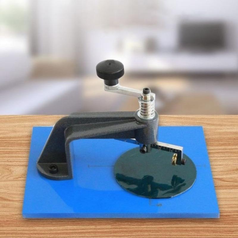 K1KA DIY Circle Glass Cutter Small 10-100mm Lens Cutters Glass Circulator Table Household Round Steel Glass Cutting Machine