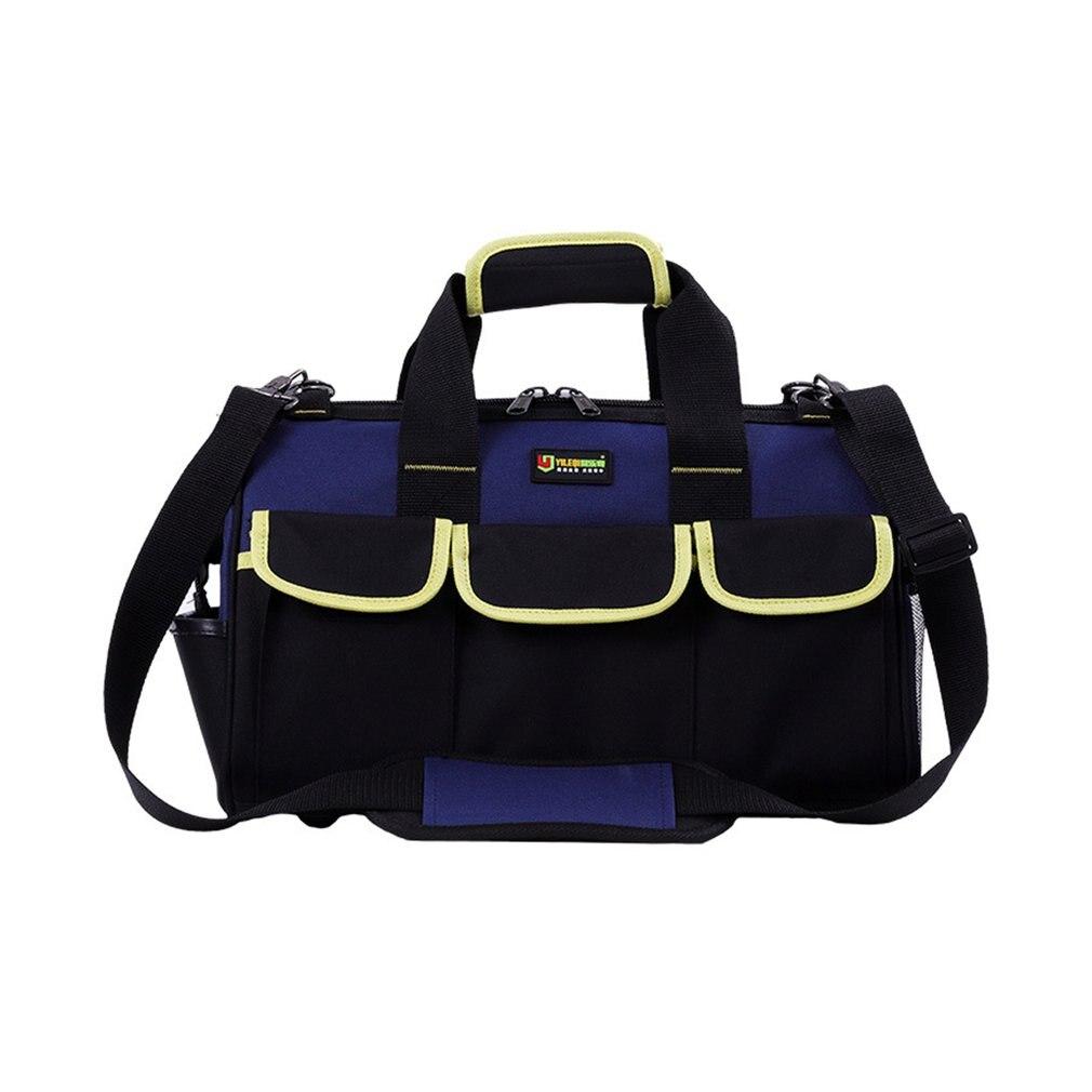 Bolsa de herramientas de gran capacidad de 14/16/20 pulgadas, bolsa de electricista impermeable, herramienta de bolsa oblicua de plástico para hombre bolso