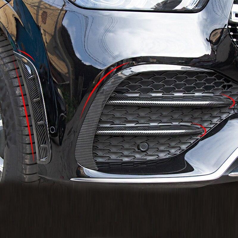 Para mercedes-benz lei320/350/400/450/500 W167 pegatinas de fibra de carbono parachoques delantero modificado parachoques trasero accesorios decorativos