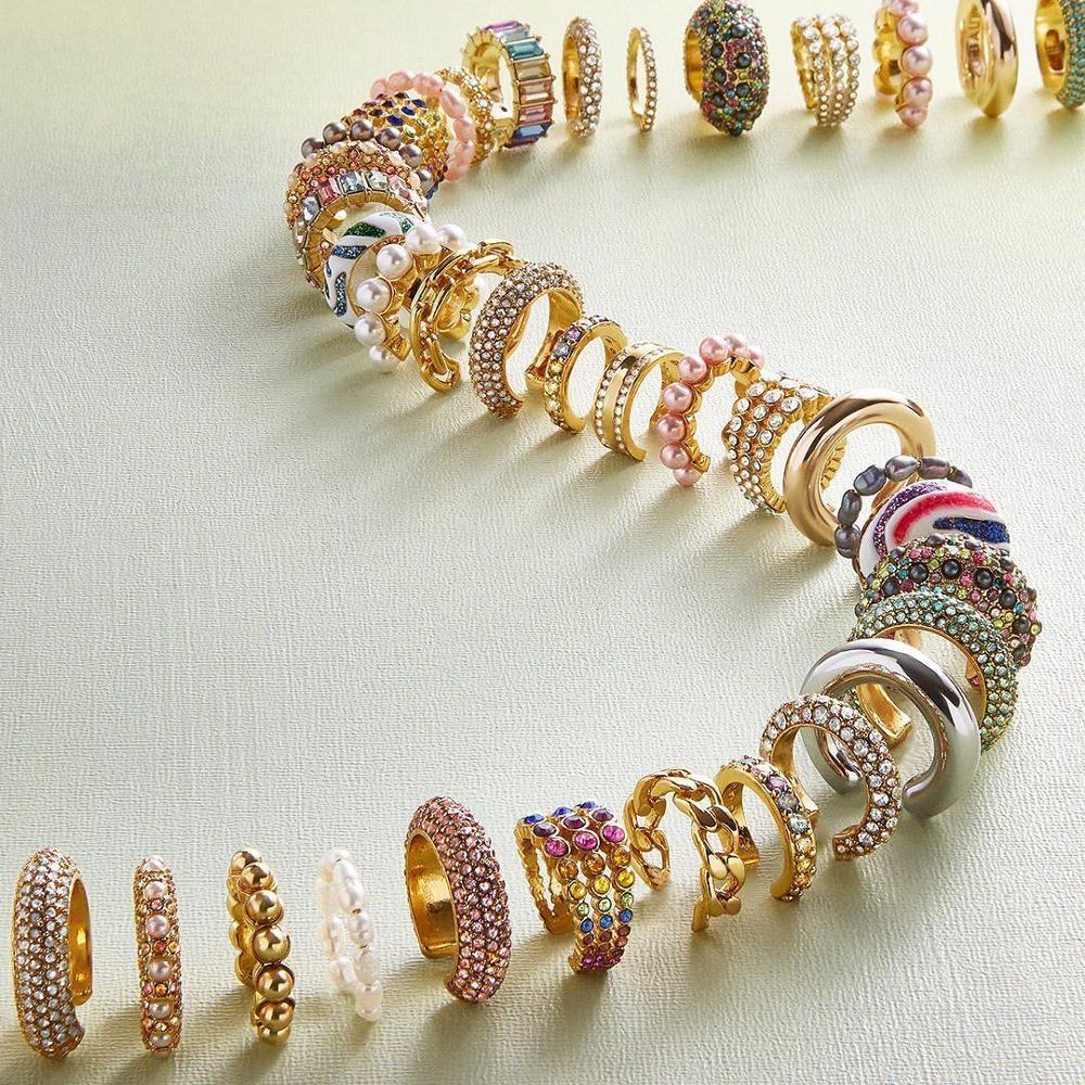 Dvacaman Fashion Pearl Ear Cuff Bohemia Stackable C Shaped CZ Rhinestone Small Earcuffs Clip Earrings for Women Wedding Jewelry
