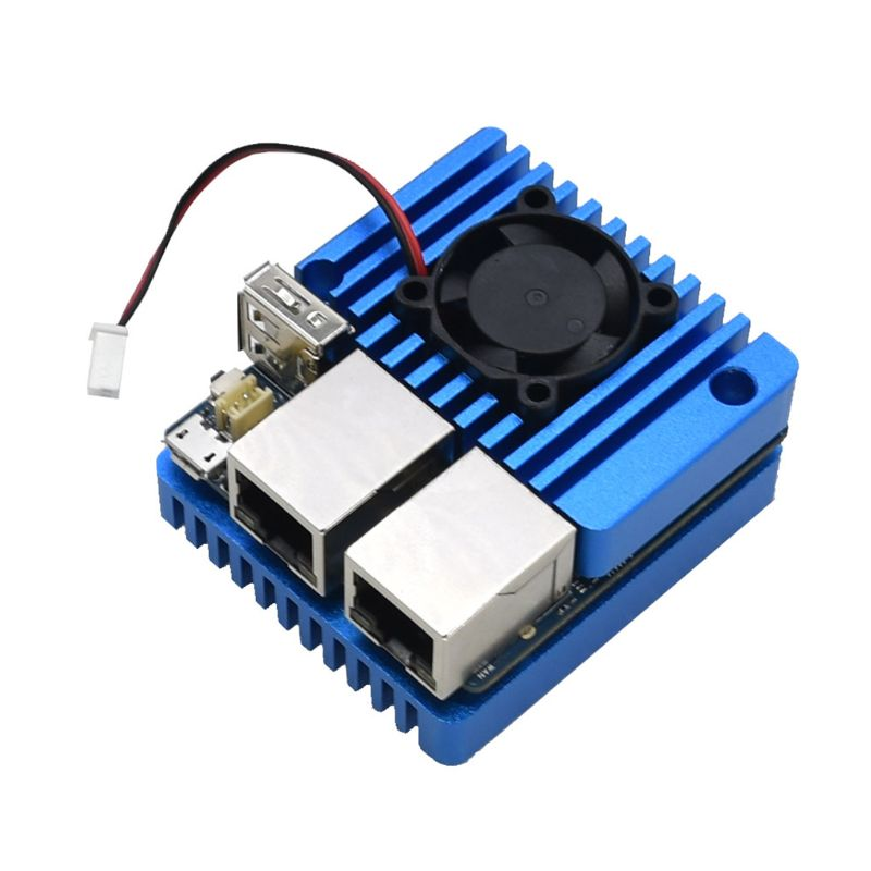 Mini Router Dual Ethernet Ports Power Supply Board with Case for NanoPi R2S WXTB enlarge