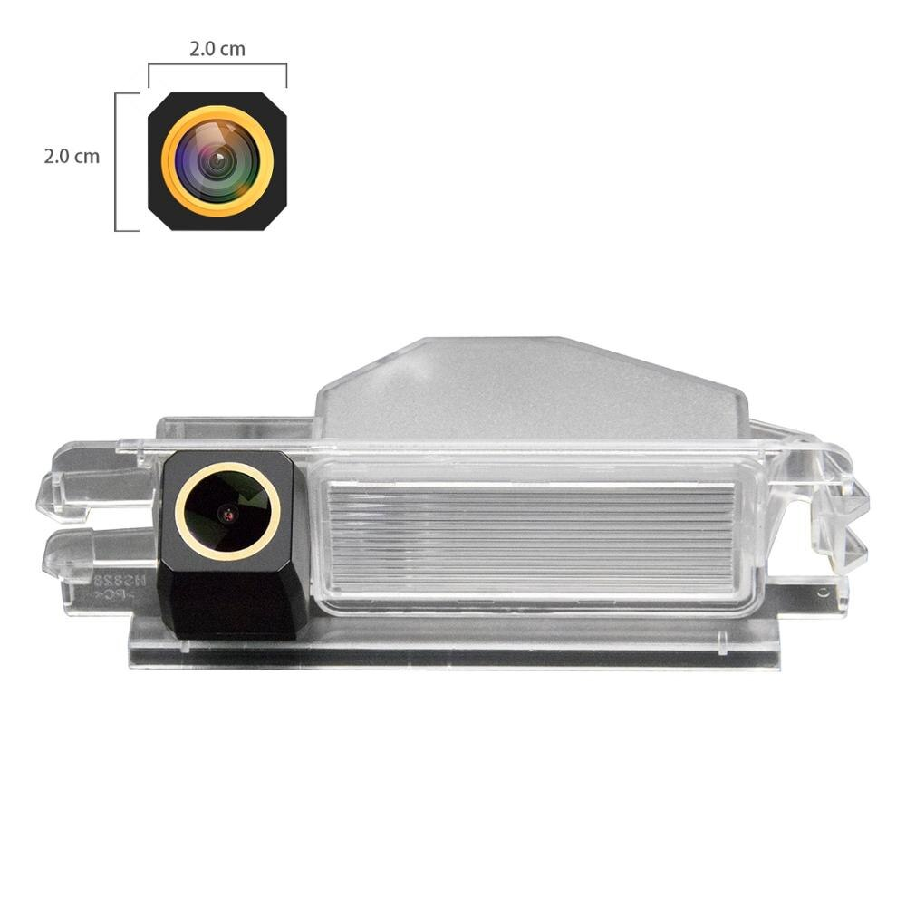 HD 1280x720p Cámara de Oro opinión posterior del coche que invierte la cámara de copia de seguridad para Nissan marzo Micra K12 K13 Renault Logan y Renault Sandero