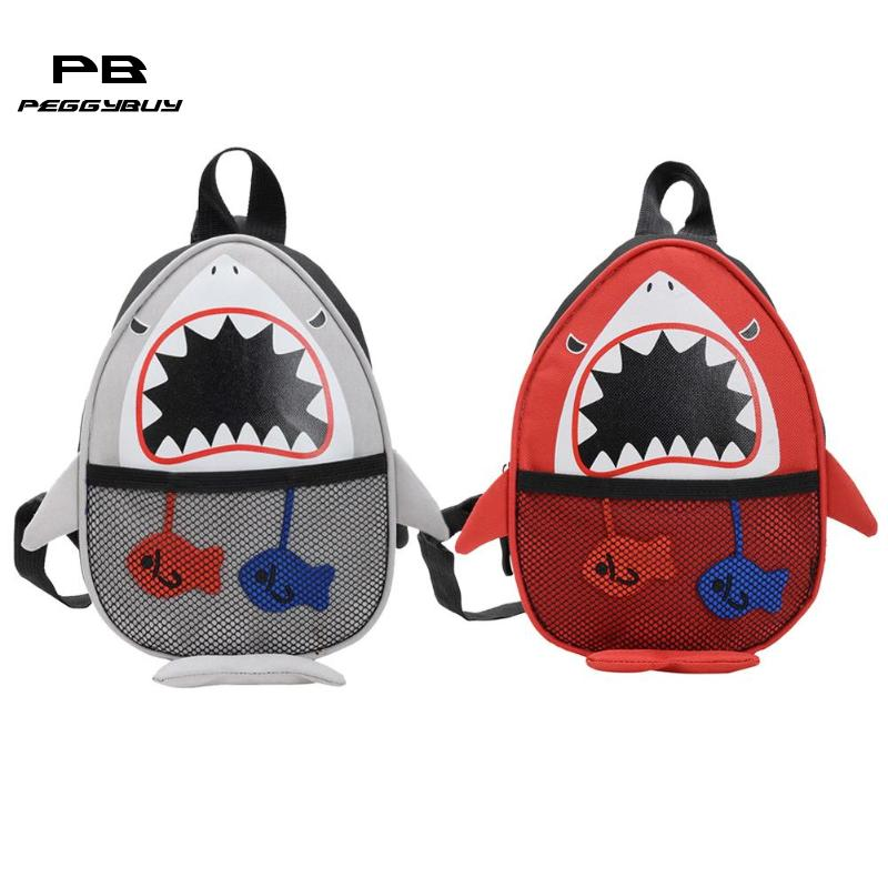 Cartoon Cute Shark Kids Crossbody Shoulder Bag Child Nylon Casual Satchel Single shoulder strap Shoulder