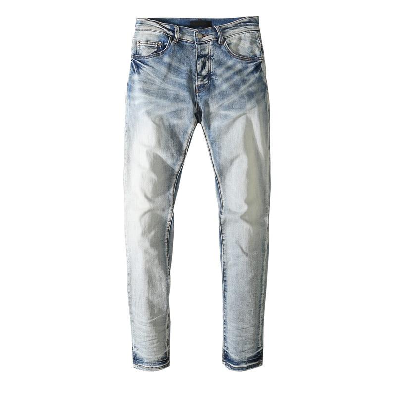 American Famous Brand AMR 2021ss Simple Style Jeans Men Trousers Men's Pants Streetwear Slim Fit Jeans Men's Clothing