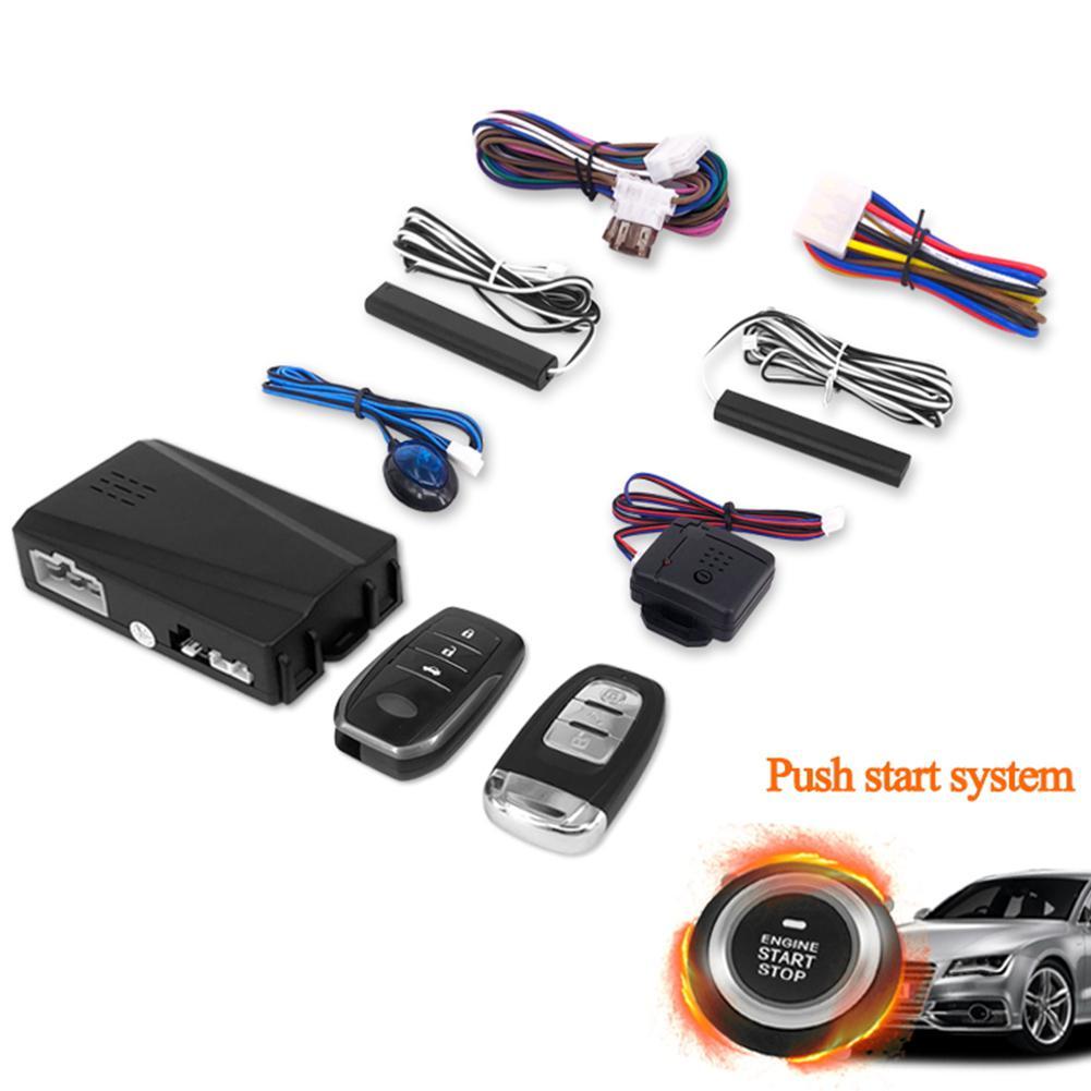 Carro automático alarme do motor botão de partida do carro anti-roubo sistema de partida remoto controle remoto keyless enter pke um começo chave