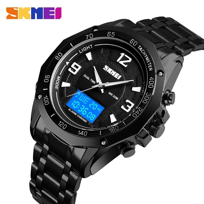 Relógio do Esporte dos Homens Relógio de Pulso Homem à Prova Skmei Moda Dupla Exibição Digital Dwaterproof Água Luminoso Relógio Masculino 2021 Novo