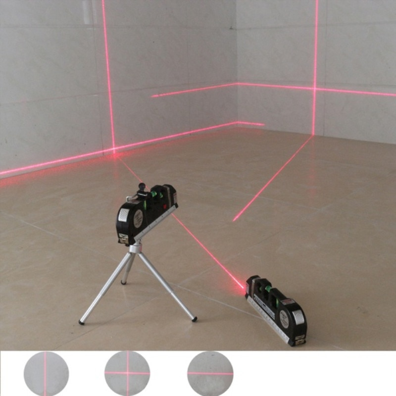 1 st 4 in 1 infrarood laser niveau kruislijnlaser tape met 2,5 m meetlint multifunctionele laser level tools