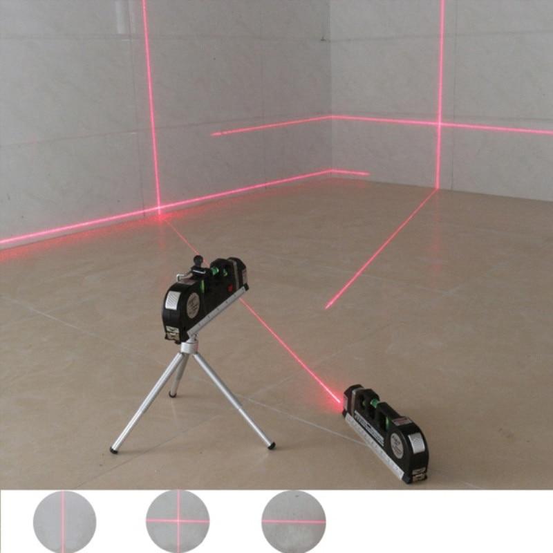 Nastro laser a linee incrociate a livello laser a infrarossi 4 in 1 1pc con strumenti di livello laser multifunzione a nastro da 2,5 m