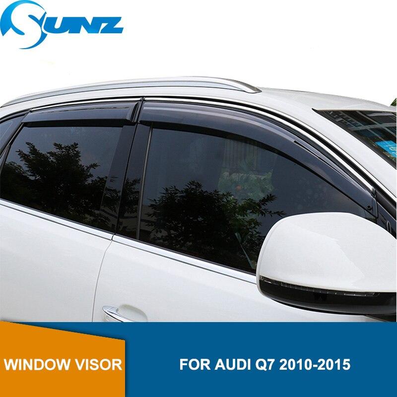 Smoke Car window rain protector door visor For Audi Q7 2010 2011 2012 2013 2014 2015 window visor  Side Winodow Deflectors SUNZ