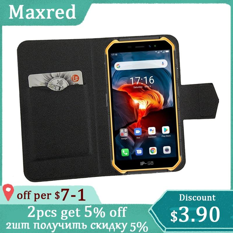 "5 cores quentes!! Ulefone armadura x7 pro caso 5 ""flip ultra-fino couro exclusivo telefone capa moda folio livro cartão slots"