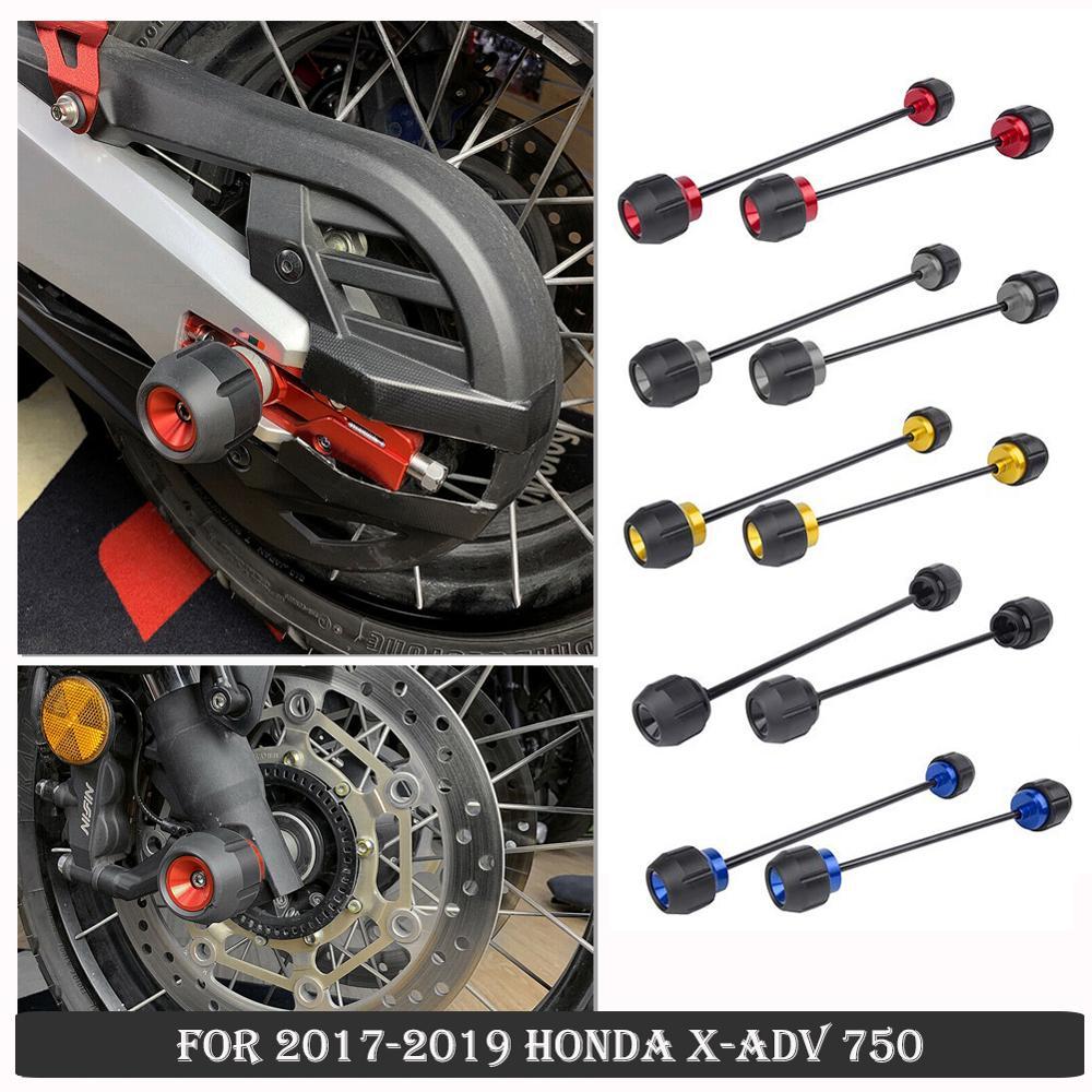 Rueda de control deslizante para Honda XADV 750 Xadv750 frente neumático trasero eje de horquilla de accidente Protector 2017 2018X2019 ADV-Accesorios de la motocicleta