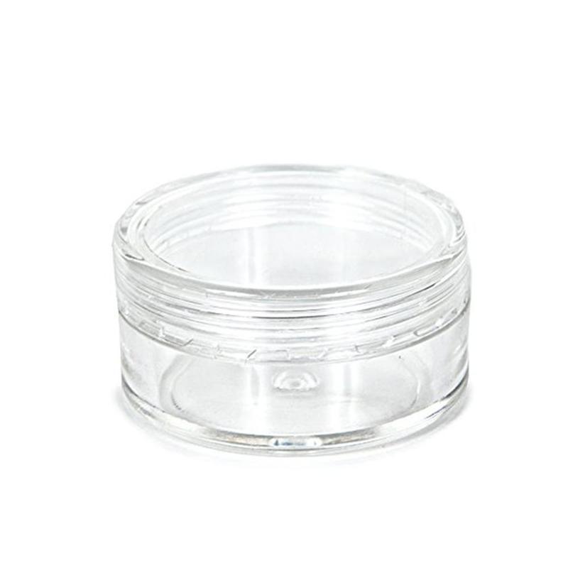 5g 1/5/10/20 pces frasco de creme plástico mini 5ml recipiente cosmético vazio frasco de amostra pequena 1/6 oz sub-engarrafado