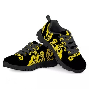 HYCOOL Kids Fashion Shoes  Flat Yellow Black Design Casual Trendy Children Sneakers Platform Winter Spring Running Footwear