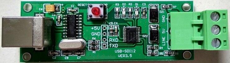 Teste do sensor do conversor sdi12 do depurador da captura do protocolo de usb a SDI-12
