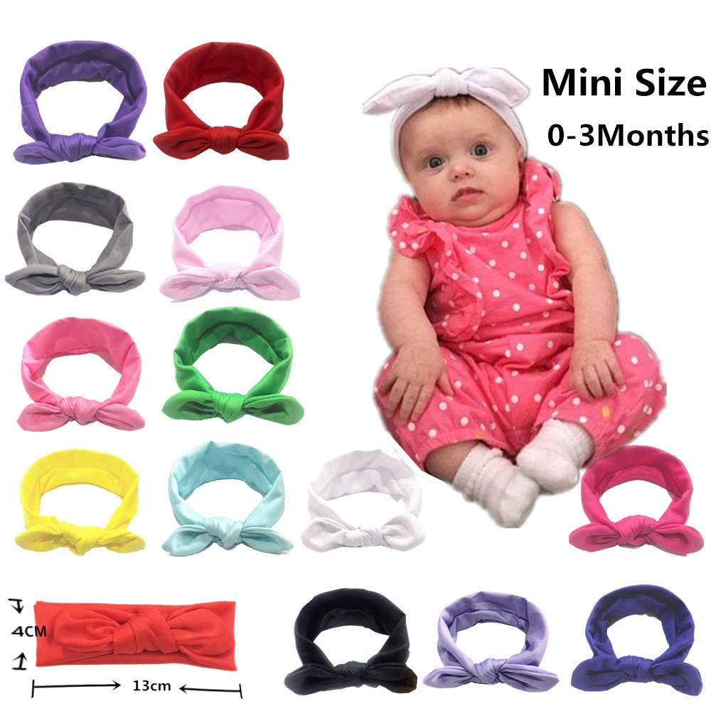 2019 Baby hut Neue Bunte Kleinkind infant Stirnband Kaninchen Ohr Baby Kopfschmuck Kinder Haarband Mädchen Bogen Knoten haar zubehör
