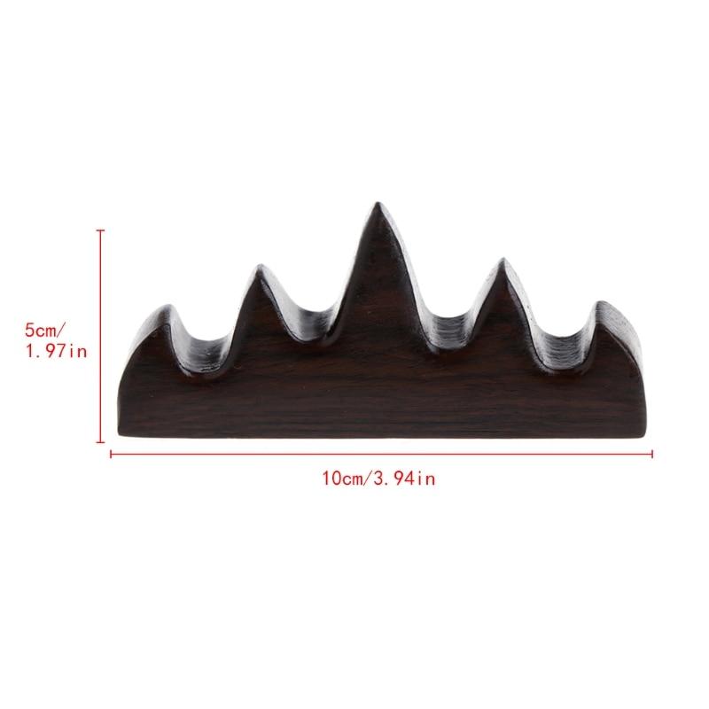 Винтажная деревянная подставка для кистей 4 слота держатель ручки китайской