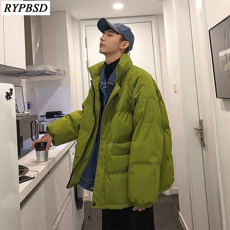 Winter Men Parka Jacket Oversize Loose Cotton Men Coat Thicken Warm Fashion Casual Solid Harajuku Parka Jacket Plus Size 5XL