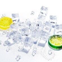 Glaçons artificiels écrasés Transparent faux glace forme carrée acrylique pour accessoires de photographie décoration de cuisine à la maison