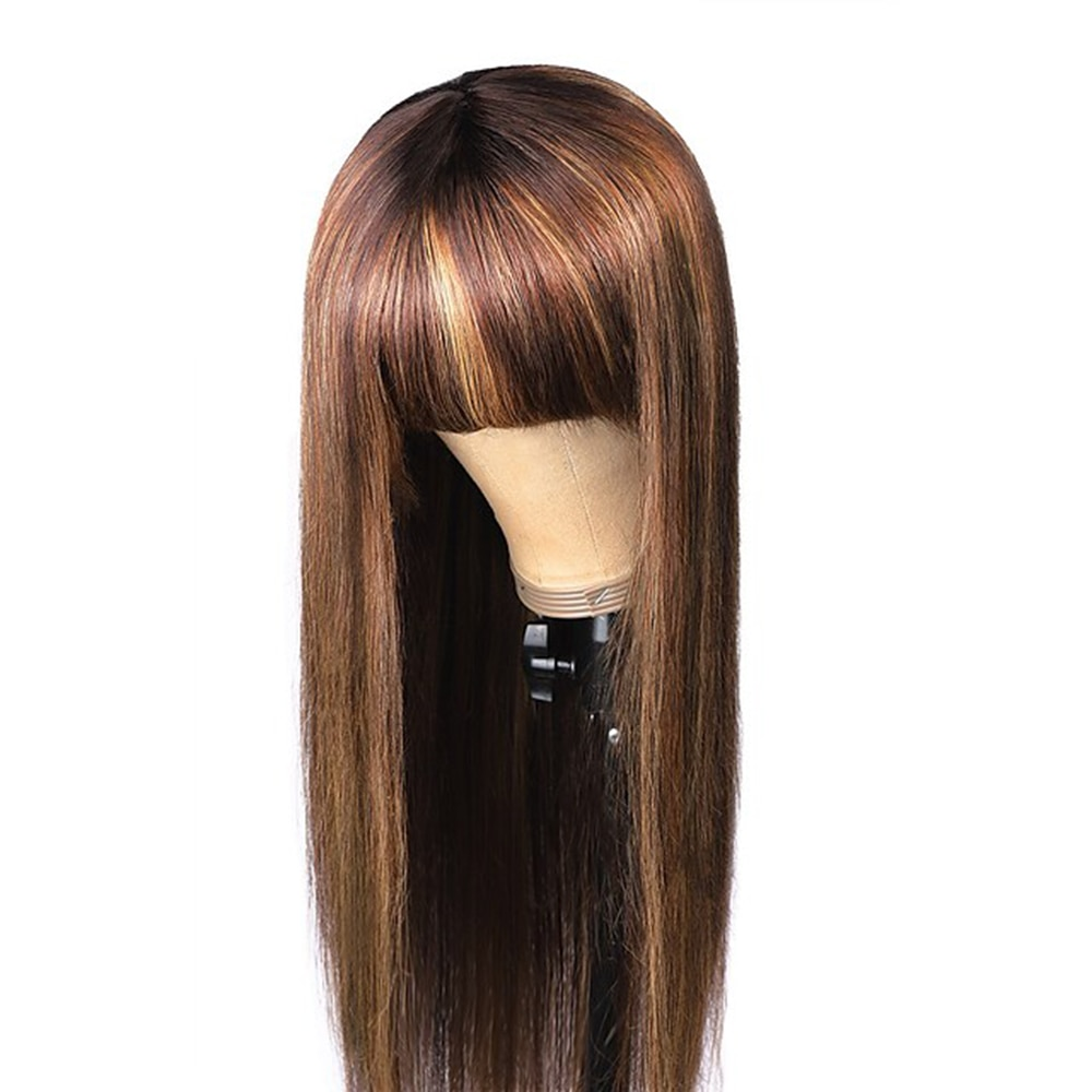 Remy Human Hair Lace Front costume Wig full Part style Brazilian Hair Straight Wig 130% Density with Baby Hair Natural Hairline