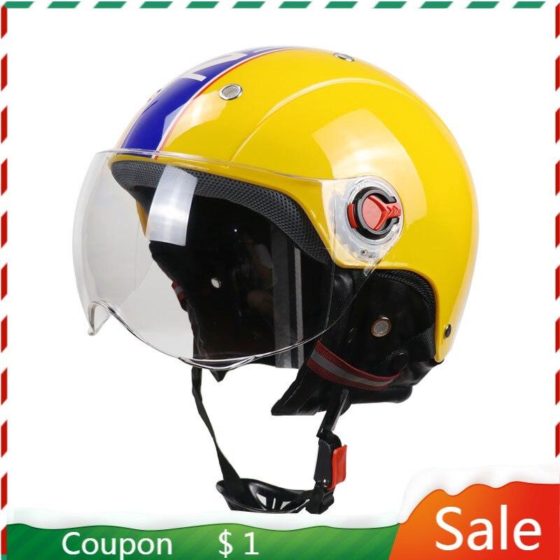 Casco de protección Vintage Para Adulto, Casco de motocicleta con orejas, Para...