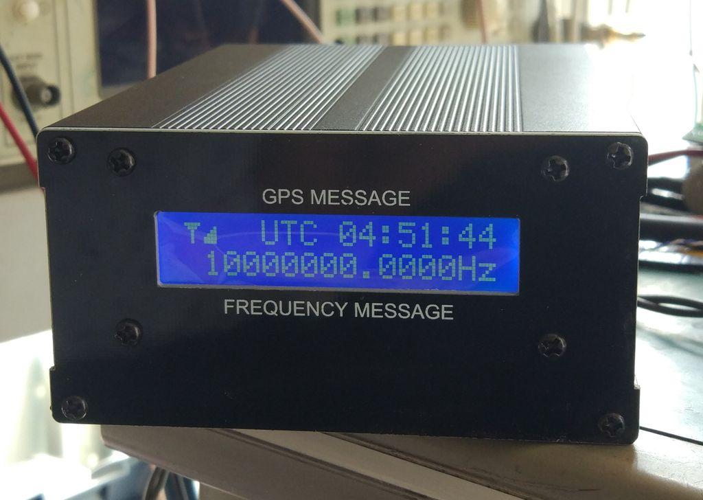 10m com Freqüência de Exibição Lcd e Referência de Tempo Gpsdo Relógio Gps