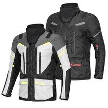 Lyschy nova chegada à prova dwaterproof água 3 em 1 jaqueta da motocicleta calças roupas terno inverno manter quente motocross moto jaqueta S-5XL