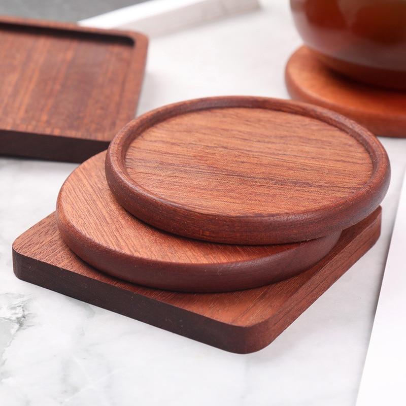 Новые деревянные подставки из эбенового дерева, подставки для чая, прочные термостойкие подставки для напитков, подставка для чайного горш...