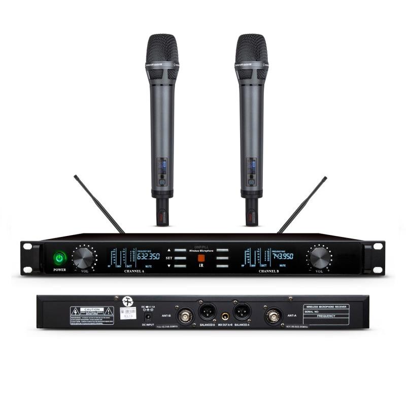 Leicozic-micrófono inalámbrico Dual U7700, Equipo Profesional De Música, 600Mhz, equipo De Audio De escenario