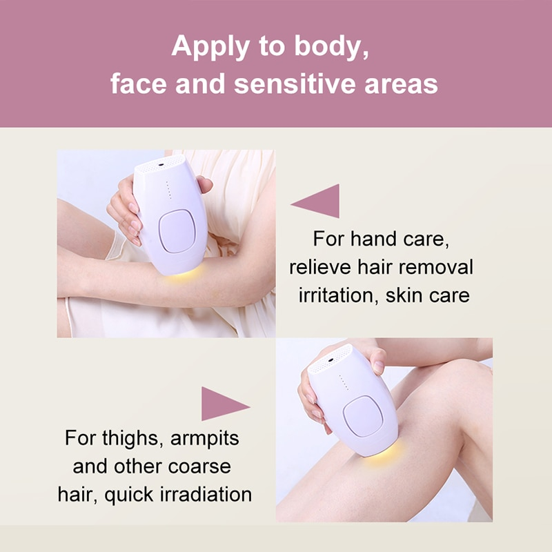 portable bikini painless body hair remover IPL less and thiner bodyhair soomth skin enlarge