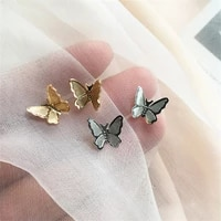 mini fine grind arenaceous metal butterfly stud earrings for women cute romantic new design hot sale fashion jewelry earbob