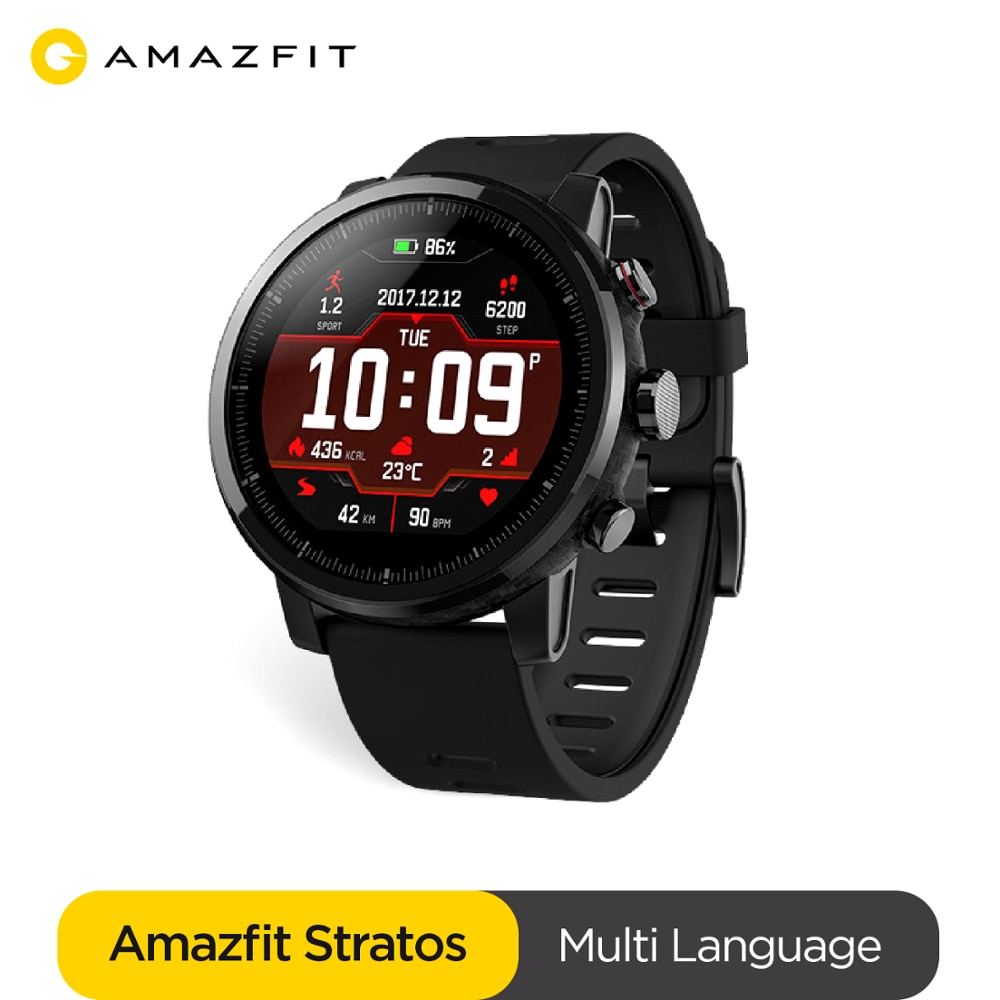 Ship From Spain Amazfit Stratos Smartwatch Music Bluetooth GPS GLONASS Heart Rate Monitor 5ATM Water