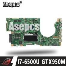 Asepcs K501UX carte mère dordinateur portable pour ASUS K501UX K501UB K501U K501 Test carte mère dorigine DDR3 4G RAM I7-6500U GTX950M EDP