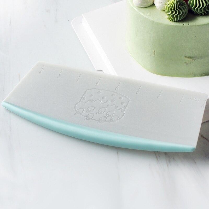 Cortador para pastelería raspador de masa de harina de plástico/Pizza cuchillo Extra grande espátula de pasteles herramientas mango de polipropileno herramienta para pasteles
