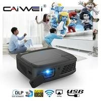 CAIWEI H6W Mini projecteur de Smartphone DLP 1080P Portable WIFI batterie Beamer 3D cinema miroir moule sans fil projecteur multimedia
