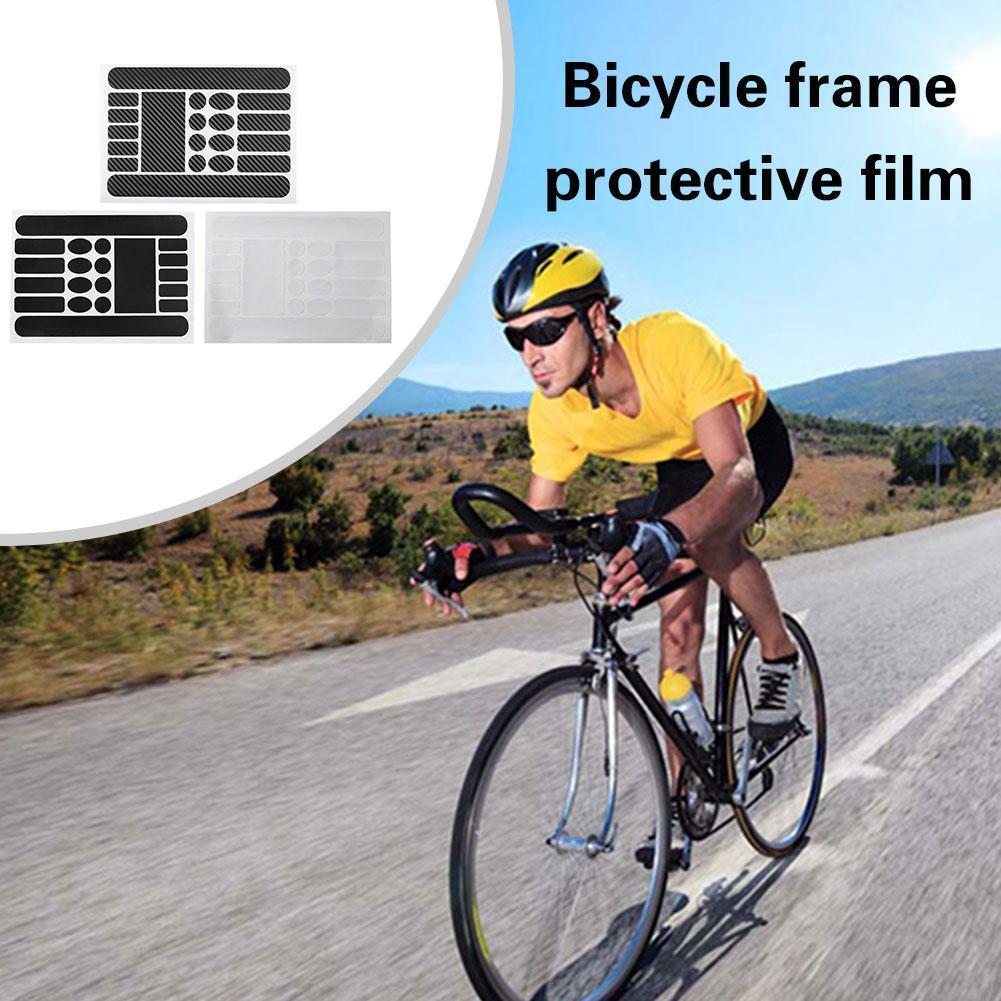Bicicleta nueva pegatina antiarañazos cadena de bicicleta protección marco pegatina protección de película pegatina bicicleta J9Q8
