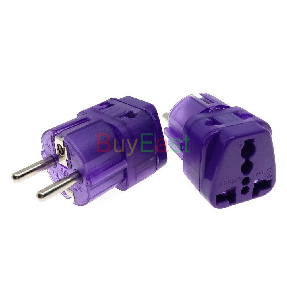 Adaptador de enchufe eléctrico 2 en 1, Universal a Schuko EU, Multi...
