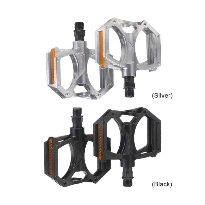 Gran oferta de pedales de bicicleta M195, 2 rodamientos sellados, pedales de cuerpo de aluminio con Reflector para bicicletas de montaña, piezas de ciclismo