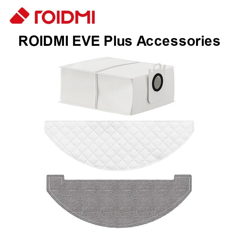 ROIDMI EVE Plus-piezas originales de aspiradora de bolsa de polvo... toallitas desechables...