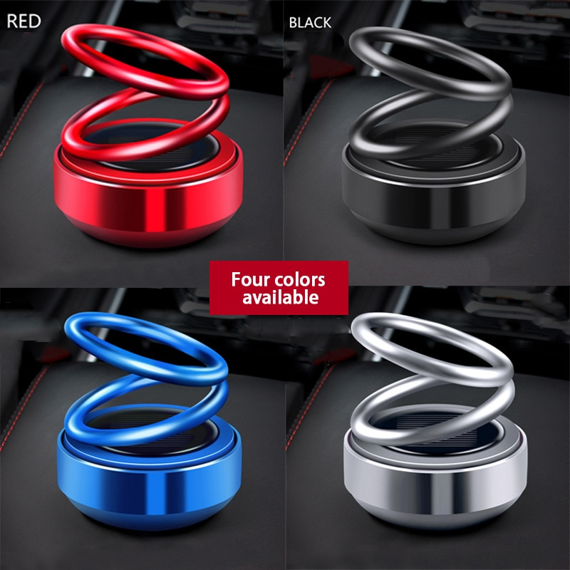 Car Air Freshener Perfume Dashboard Fresh Car Fragrance 360° Suspension Rotation Car-style Air Auto