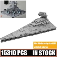 new 15310pcs imperial destroyer moderately sized isd full interior building blocks bricks diy fighter xmas toys for kids