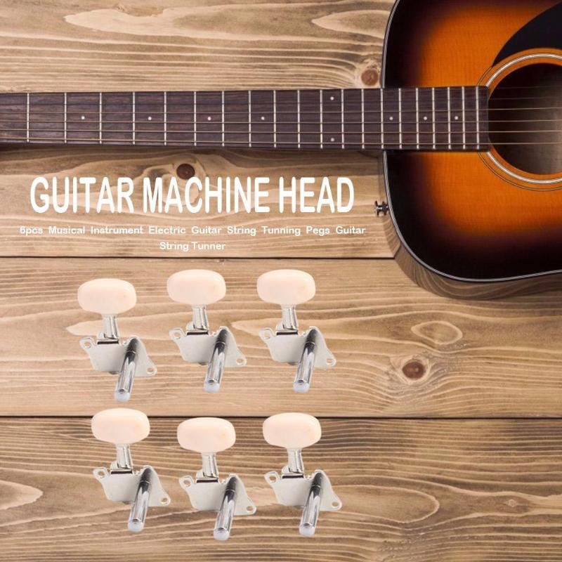 6pcs Classical Guitar Cordas Tunner Guitarra Elétrica Cabeça Da Máquina Corda Estacas Tunning Guitarra Guitar Parts & Accessories