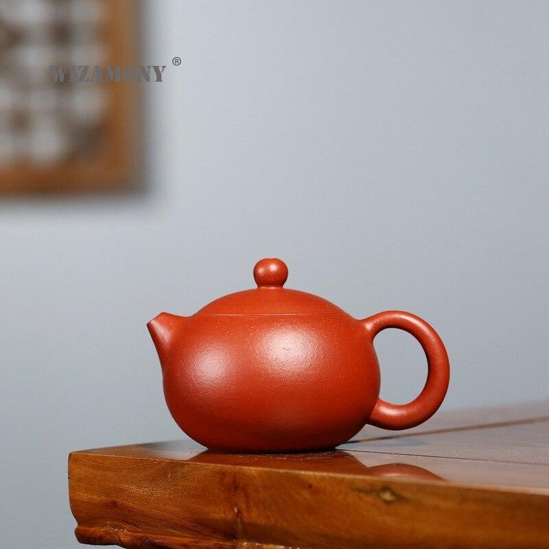 WIZAMONY-إبريق شاي زيشا ، 160 سم مكعب ، Xishi ، الرمل الخام ، Zhu ، Ni ، xiaoxshi ، صناعة يدوية ، الكونغ فو ، إبريق الشاي