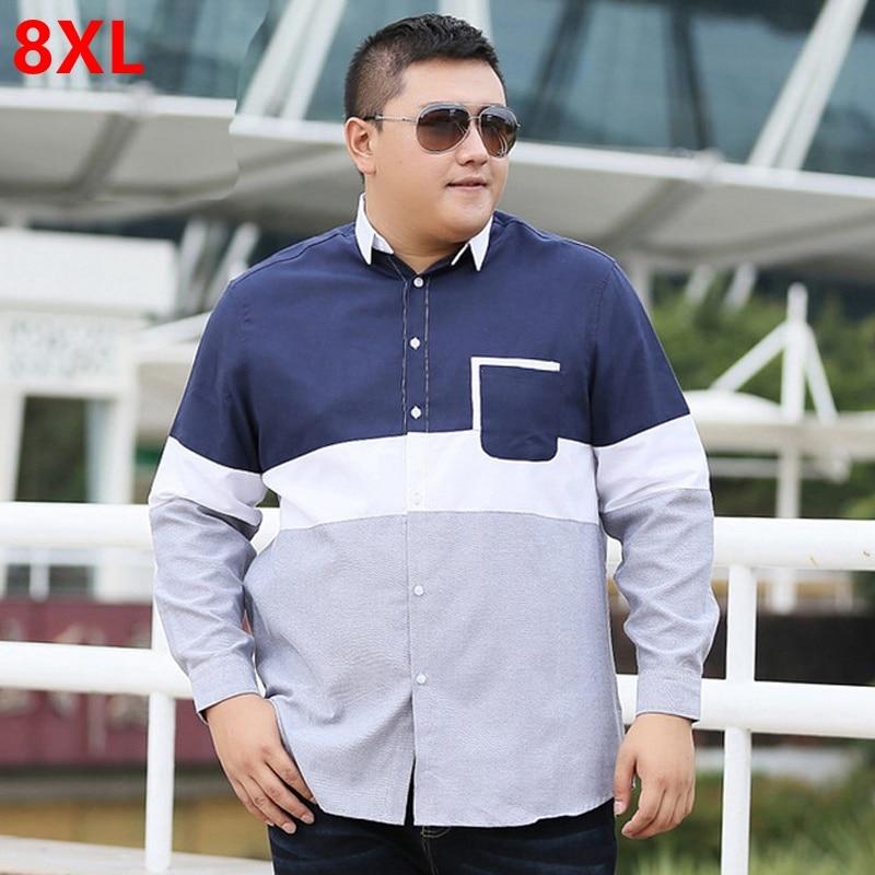 قميص رجالي بأكمام طويلة ، مقاس XL ، منتج جديد ، سماد ، خياطة كبيرة جدًا ، فضفاض