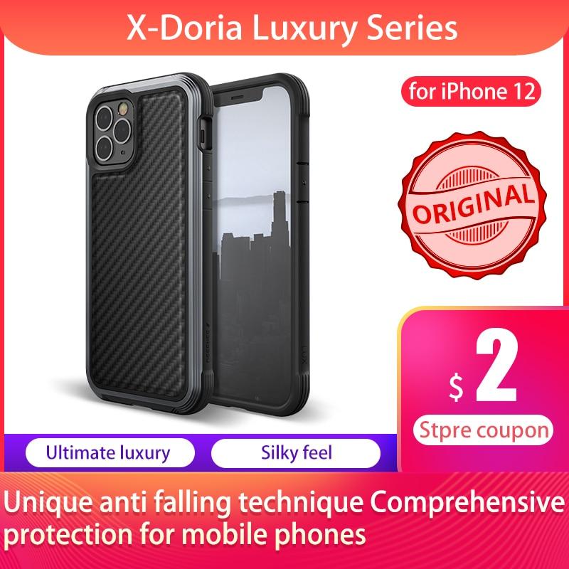 X-Doria-حافظة واقية لهاتف iPhone 12 Pro Max ، غلاف من الألومنيوم ، درجة عسكرية ، تم اختباره