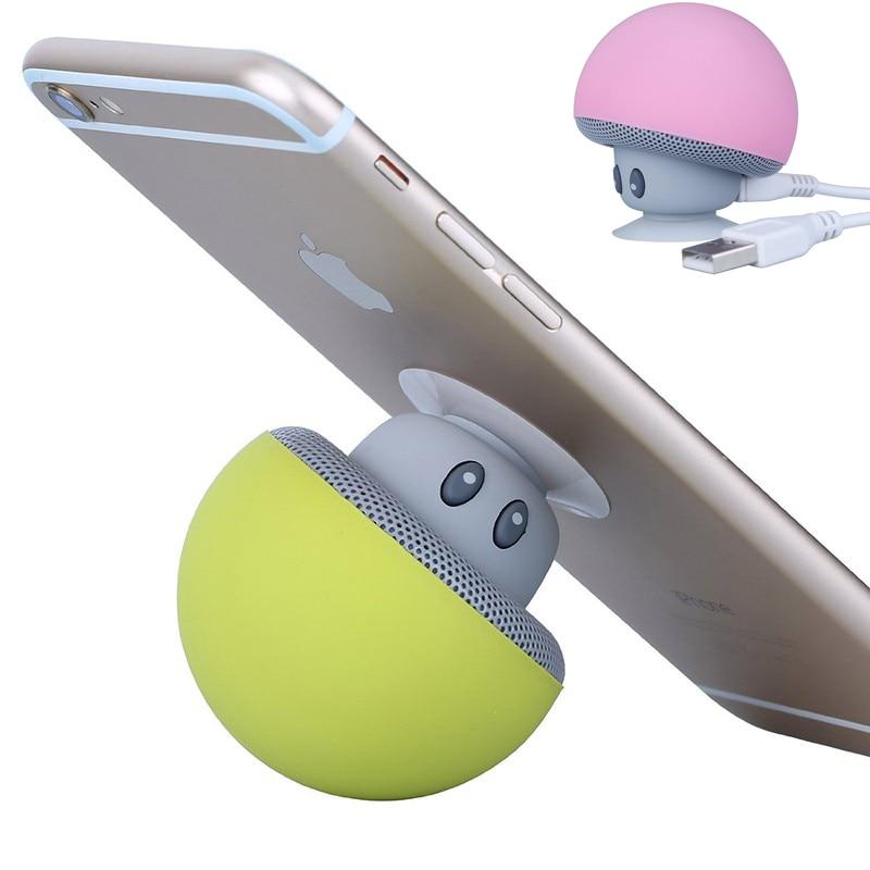 Soporte de teléfono de dibujos animados musicales soporte inalámbrico Bluetooth altavoz Mp3 reproductor de música receptor lindo seta soporte para teléfono