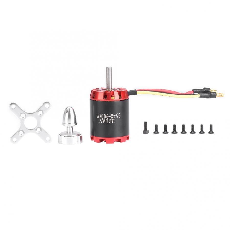 1 pçs N3548-900KV 2826 900kv vermelho preto aço inoxidável externo rotor brushless motor para aeronaves de energia rc brinquedo brushless motor