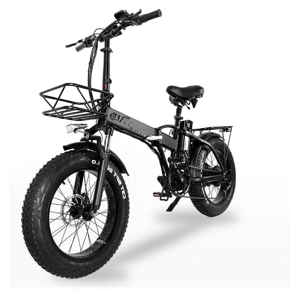 [EU Direct] CMACEWHEEL GW20 48V 15Ah 750W bicicleta eléctrica plegable 20 pulgadas 30-45 km/h velocidad superior 80-1100KM kilometraje freno de disco e-bike