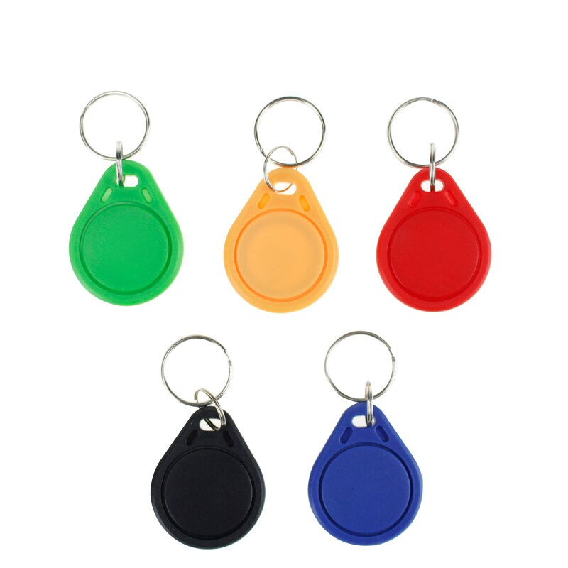 100 pces rfid chave ic tag 13.56 mhz fm1108 interfone chave token keyfobs chaveiro emblema fábrica controle de acesso parque de estacionamento