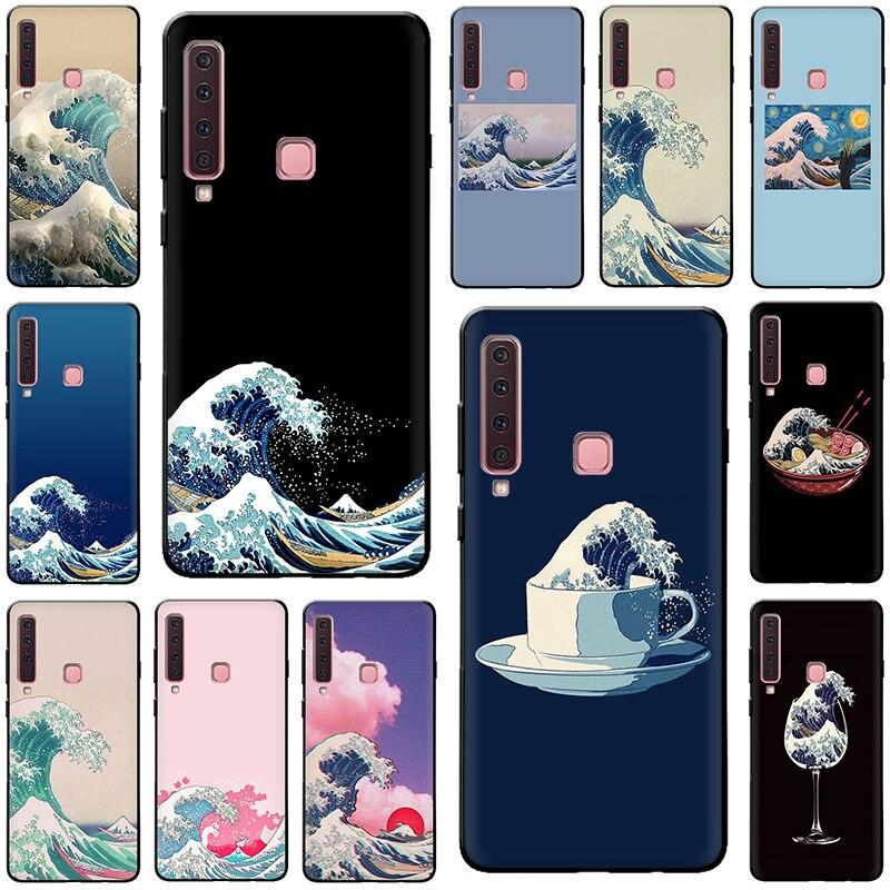 La Gran Ola de Kanagawa funda de silicona para teléfono Samsung S7 S6 Edge S8 S9 S10 Plus S10e Note 8 9 J6 A6 Plus A8 A9 2018
